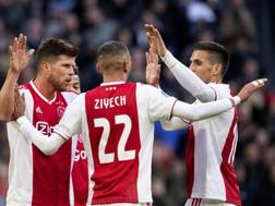 I giocatori dell'Ajax. Afp