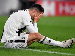 La disperazione di Cristiano Ronaldo. Getty
