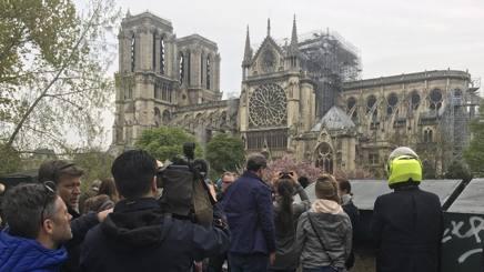 Notre-Dame questa mattina. Ap