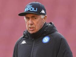 Carlo Ancelotti, allenatore del Napoli. Epa