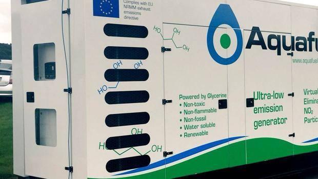 Generatore Aquafuel a Glicerina utilizzati per la Formula E