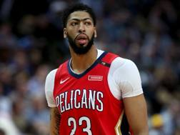 Anthony Davis, 26 anni, a New Orleans dal 2012. Afp