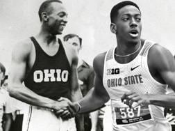 Un fotomontaggio che unisce Jesse Owens e Nick Gray