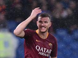 Edin Dzeko, 33 anni, in scadenza con la Roma nel 2020 LAPRESSE