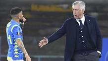 Ancelotti richiama Insigne in panchina dopo un clamoroso errore. Ansa