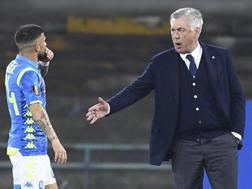 Ancelotti richiama Insigne in panchina dopo un clamoroso errore. Ansa