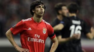 Il 19enne Joao Felix ieri sera a Francoforte: il suo Benfica è stato eliminato dall'Eintracht