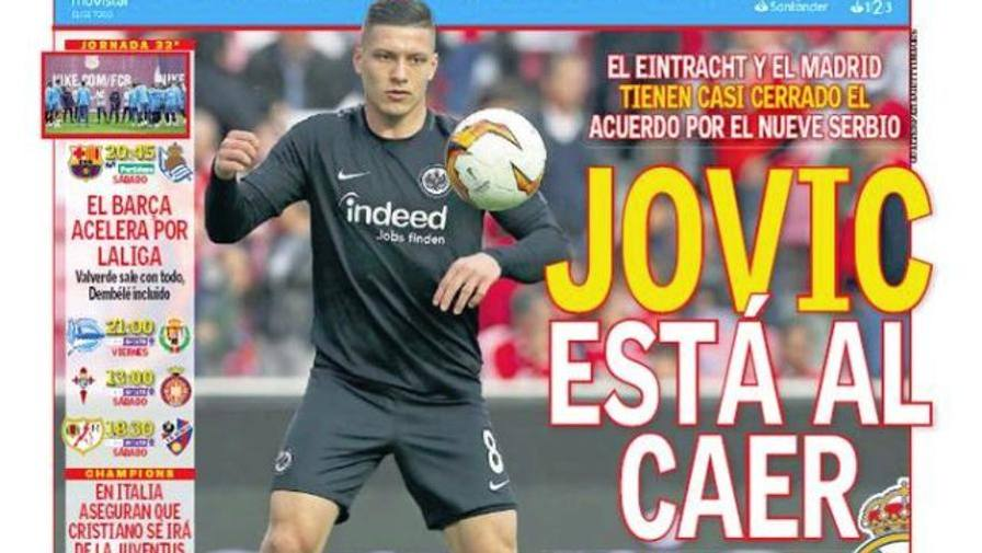 "Rassegna - Jovic all'Inter? ""Accord Real-Eintracht"""