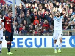 Milan Badelj esulta dopo il gol contro il Genoa. LAPRESSE