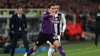 Federico Chiesa in azione contro la Juve. Getty
