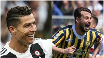 Cristiano Ronaldo e Davide Paponi: i sorrisi dei bomber delle due Juve
