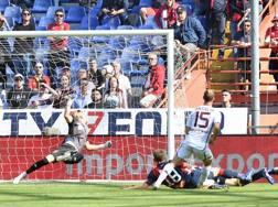 Il gol decisivo di Ansaldi. Lapresse