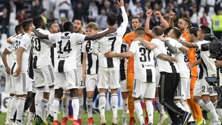 La gioia dei calciatori della Juventus. Getty
