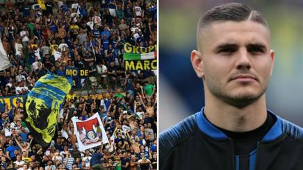 La Curva Nord e Icardi. Getty