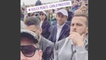 Miralem Pjanic con gli amici in tribuna al Master 1000 di Montecarlo. Instagram