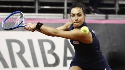 Martina Trevisan impegnata contro la Pavlyuchenkova. Epa