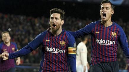 Lionel Messi e Philippe Coutinho. LAPRESSE