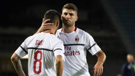Suso e  Patrick Cutrone, attaccanti del Milan. Ansa
