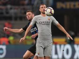 Edin Dzeko, 33 anni, bosniaco, gioca nella Roma dal 2015. Prima era al Manchester City Getty