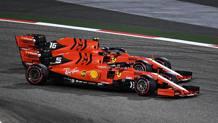 Sebastian Vettel e Charles Leclerc in Bahrain. Getty