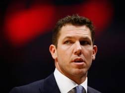 Il coach dei Sacramento Kings Luke Walton. Afp