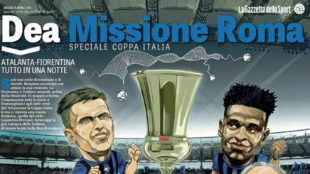 La copertina dello Speciale Coppa Italia sull'Atalanta. Gazzetta