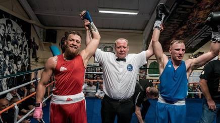 Conor McGregor, 30 anni, al termine dell'esibizione al Crumblin Boxing Club. Instagram