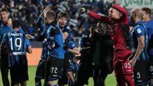 I giocatori dell'Atalanta festeggiano il raggiungimento della finale di Coppa Italia. Getty