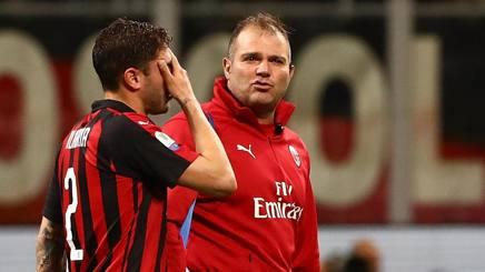 L'uscita di Davide Calabria, 22 anni, con la Lazio. Getty