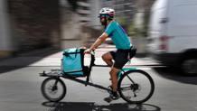 Un rider di delivery food. AFP
