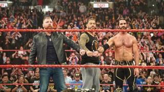 Dean Ambrose, Roman Reigns e Seth Rollins.
