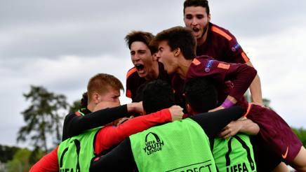 I ragazzi del Barcellona, nella vittoria dello scorso anno. Foto Twitter