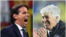Simone Inzaghi, allenatore della Lazio, e Gian Piero Gasperini, Atalanta ANSA, LAPRESSE