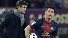 Tito Vilanova e Messi, nel 2013. Epa