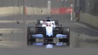 Il momento della rottura del fondo sulla Williams