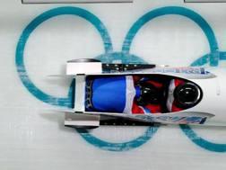 Il bob di Alexsandr Zubkov, uno dei grandi campioni coinvolti a Sochi 2014. Epa