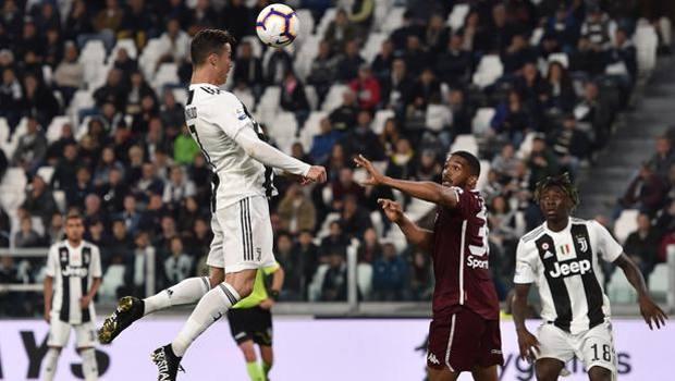 Il gol del pari di Cristiano Ronaldo. Getty