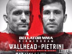 La locandina di Bellator Birmingham con Pietrini