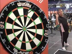 Rafael Van der Vaart impegnato nel BDO Denmark Open