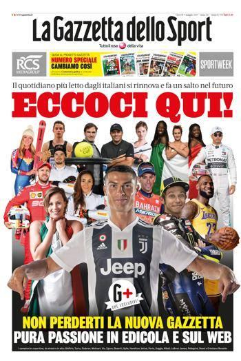 acquisto economico 136e3 c93a9 Nasce la nuova Gazzetta dello Sport: il futuro dello sport è ...