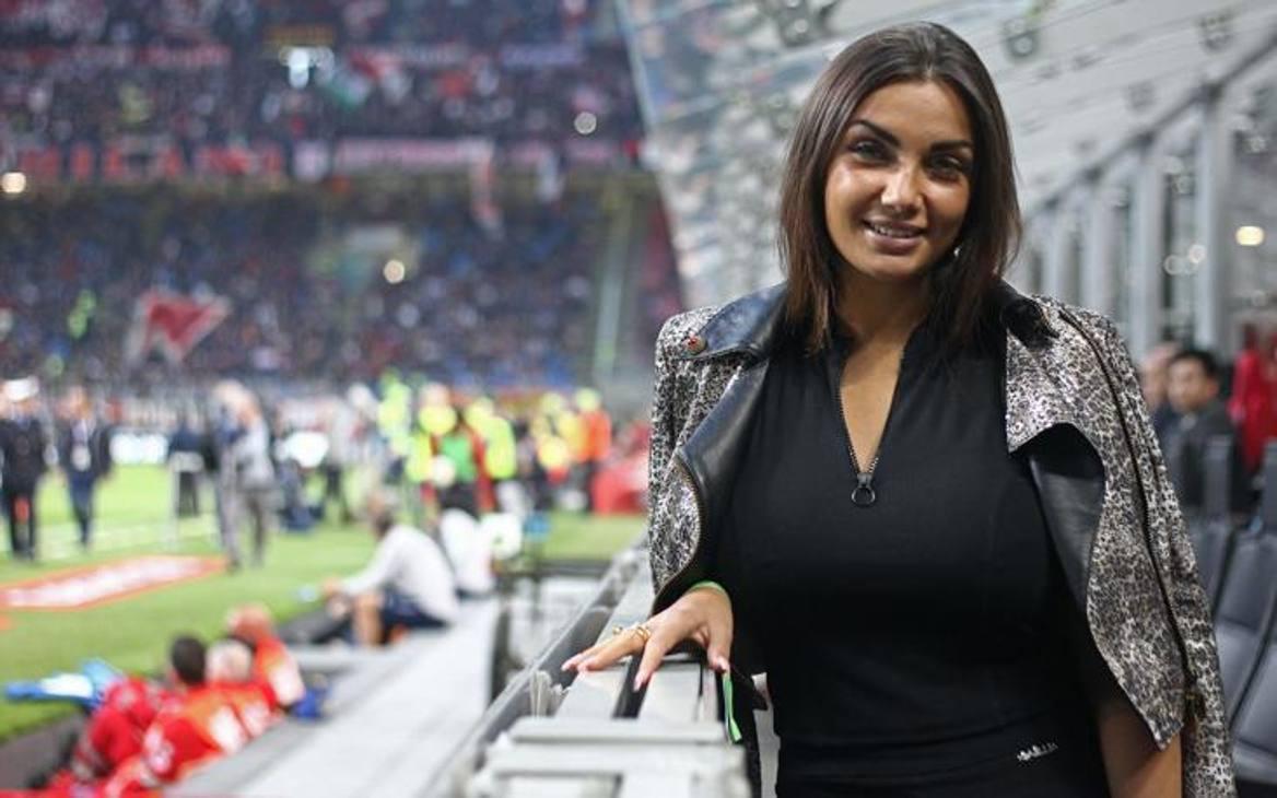 La giovane ereditiera, nipote del famoso Ferruccio Lamborghini, fondatore della celebre casa automobilistica, è presente sugli spalti dello stadio milanese. LaPresse