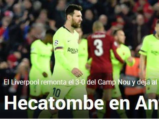 """Ecatombe"", ""Tragedia"" e...  I siti iberici affondano il Barça"