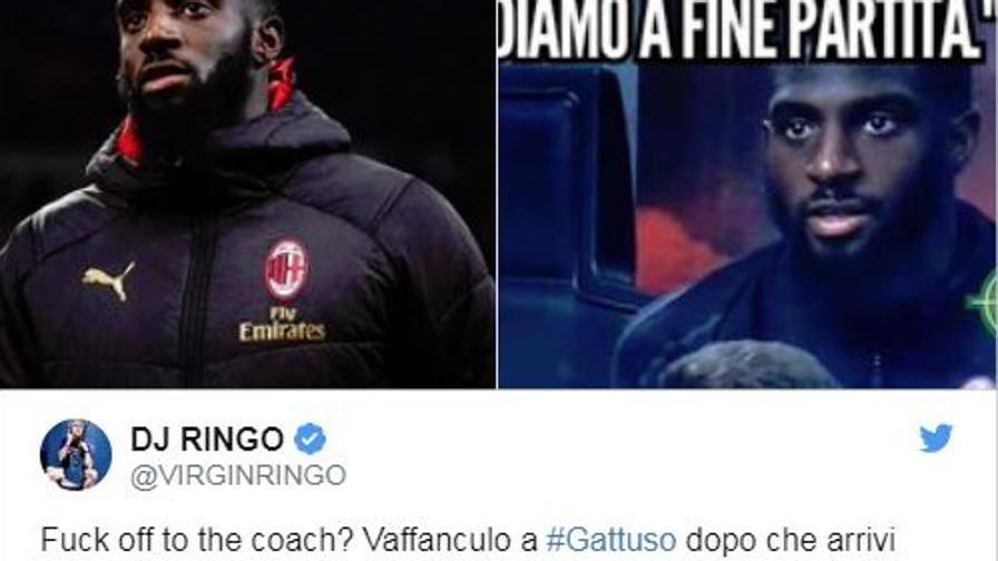 "Dj Ringo attacca Bakayoko ""Basta pagliacci al Milan!"""