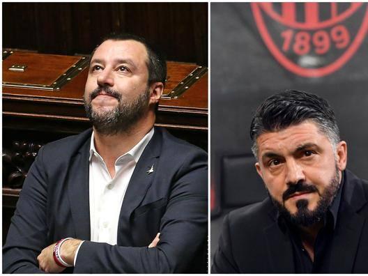 """Salvini, invito a Gattuso  """"Lo adoro, ceni con me"""""""
