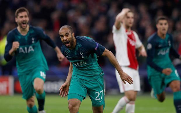 Lucas Moura, autore della tripletta che manda il Tottenham in finale. Afp
