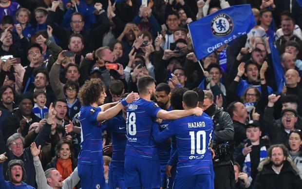 L'esultanza del Chelsea. Afp