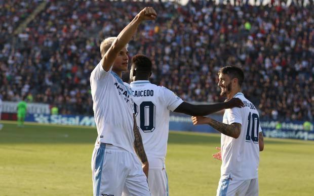 Correa festeggia il gol del 2-0. Ansa