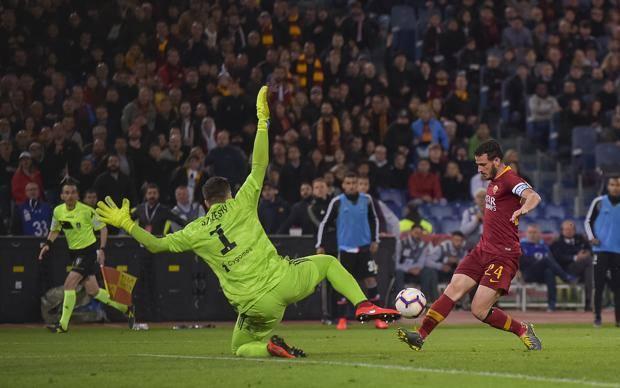 Il gol di Florenzi. Lapresse