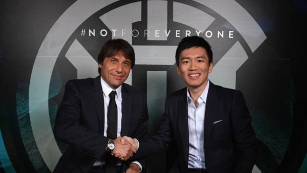 Antonio Conte e Steven Zhang. Getty Images