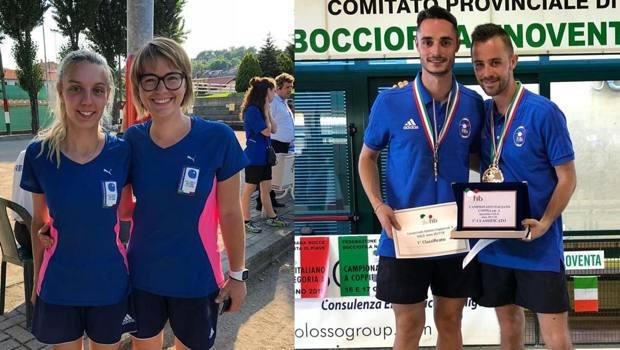 I campioni 2018 Zurini-Venturini e Ariaudo-Barbero